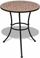 Vidaxl table mosaïque en terre cuite 60 cm 41528