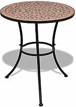vidaXL Table Mosaïque en Terre Cuite Table