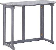 vidaXL Table pliable de balcon 90x50x74 cm Bois
