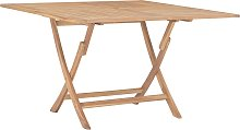 vidaXL Table pliable de jardin 120x120x75 cm Bois