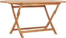 vidaXL Table pliable de jardin 160x80x75 cm Bois