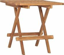 vidaXL Table pliable de jardin 50x50x50 cm Bois de