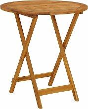 vidaXL Table pliable de jardin 70 cm Bois