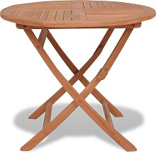 vidaXL Table pliable de jardin 85x76 cm Bois de