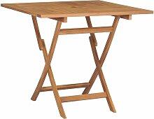 Vidaxl - Table pliable de jardin 85x85x76 cm Bois