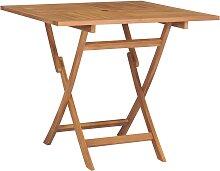 vidaXL Table pliable de jardin 85x85x76 cm Bois de