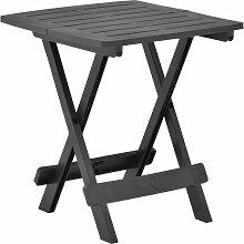 vidaXL Table pliable de jardin Anthracite 45x43x50