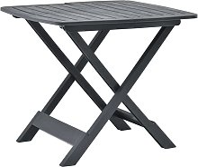 vidaXL Table pliable de jardin  Anthracite