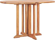vidaXL Table pliable de jardin papillon 120x70x75