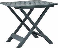 vidaXL Table pliable de jardin Vert 79x72x70 cm