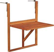 vidaXL Table suspendue de balcon 64,5x44x80 cm