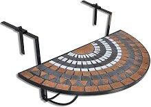 vidaXL Table suspendue de balcon Terre cuite et