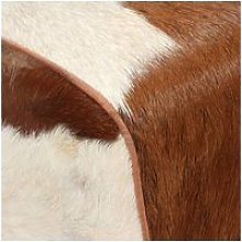 Vidaxl tabouret cuir véritable de chèvre 60 x 30