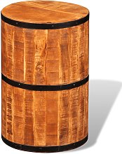 vidaXL Tabouret de bar Bois de manguier brut