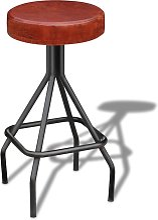 vidaXL Tabouret de bar Noir et marron Cuir