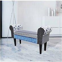 Vidaxl tabouret de style pastoral de couleurs bleu