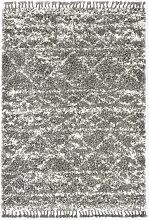 vidaXL Tapis berbère PP Gris et beige 120x170 cm