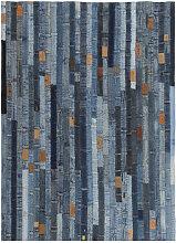 vidaXL Tapis jeans Patchwork 120 x 170 cm Denim