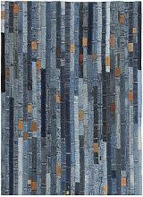 vidaXL Tapis jeans Patchwork 160 x 230 cm Denim