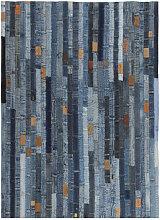 vidaXL Tapis jeans Patchwork 80 x 150 cm Denim Bleu