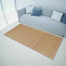 vidaXL Tapis rectangulaire Marron Bambou 120 x 180