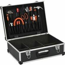 Vidaxl valise à outils 46 x 33 x 16 cm noir