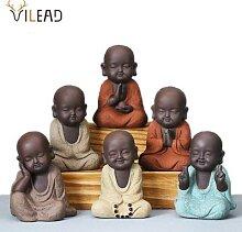 VILEAD céramique créative bouddha Statues Mini