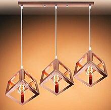 Vintage 3 Luminaires Suspensions Industrielles