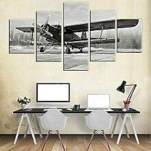 Vintage Avion Mur Art DéCo Avion Photos Noir Et