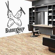 Vintage Barber Main Ciseaux Rasoir Fenêtre