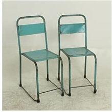 VINTAGE - Chaise en metal d'Indonésie