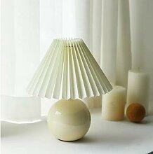 Vintage Coréen Plissé Lampe de Table Avec Tissu