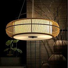Vintage E27 suspension lampe rétro bambou