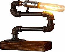 Vintage Industriel Socle en Métal Lampes de