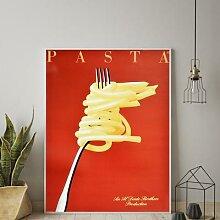 Vintage italien pâtes rétro nourriture et