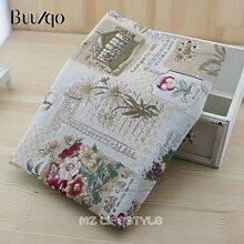 Vintage lin coton tissu impression Gerbera