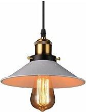 Vintage Lustre Suspension industrielle Lampe de