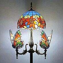 Vintage Salon Lampadaire Avec interrupteur Tiffany