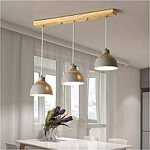 Vintage Wood Metal Lampe Pendentif, Pendentif E27