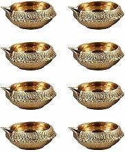 VintFlea Laiton Diwali Kouber Deepak (Diya Lampe