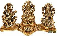VintFlea Lampe à huile indienne Laxmi Ganesh