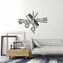 Vinyle Sticker Mural Salon De Coiffure Intérieur