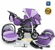 Violet kamil poussette - landau 3en1 avec siège
