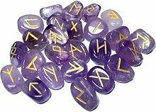 Violet Pierres Améthyste Naturelles Panoplie Rune