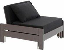 Vipack lit transformable en fauteuil pin massif