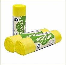 Virsus Lot de 100 sacs poubelle couleur jaune pour