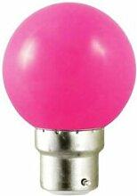 Vision-EL Ampoule LED B22 Rose 1W