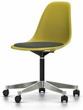 VITRA chaise à roulettes avec coussin Eames