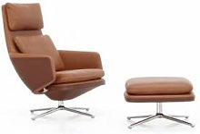 VITRA fauteuil pivotant GRAND RELAX & OTTOMAN (H
