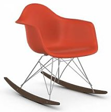 VITRA RAR fauteuil à bascule Eames Plastic